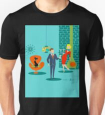 Retro Space Age Cartoon Couple  T-Shirt