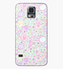 Zelda Doodlez (Grüner Pastell ver.) Hülle & Klebefolie für Samsung Galaxy