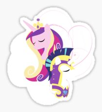 247Filly Shining Armor And Princess Cadence Sticker Love Honor