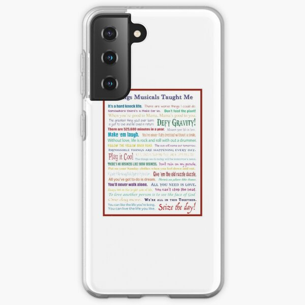 Things Musicals Taught Me Samsung Galaxy Soft Case