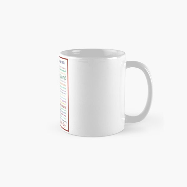 Things Musicals Taught Me Classic Mug