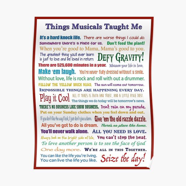 Things Musicals Taught Me Poster