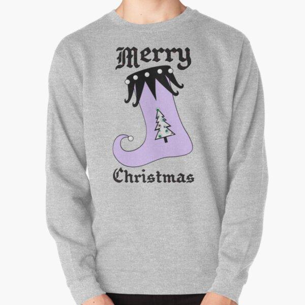 Pastel Goth | Creepy Stocking | Christmas Tree with Eyeball Ornaments Pullover Sweatshirt