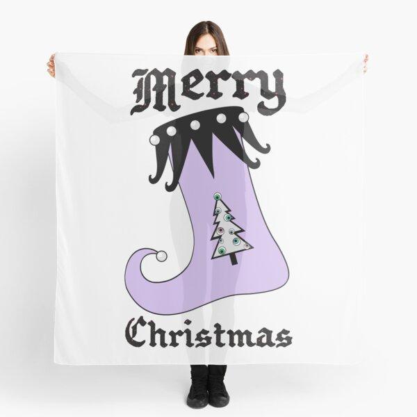 Pastel Goth | Creepy Stocking | Christmas Tree with Eyeball Ornaments Scarf