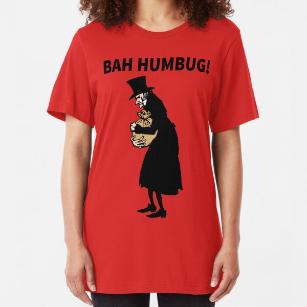 noël cadeau Bah humbug scrooge ebenezer noël t-shirt fun grincheux