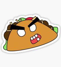angry zombie taco Sticker