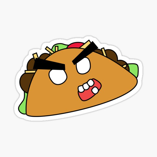 angry zombie taco Sticker