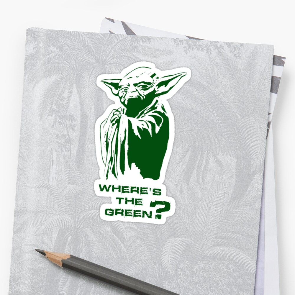 Yoda Wheres the green? by Dragonz