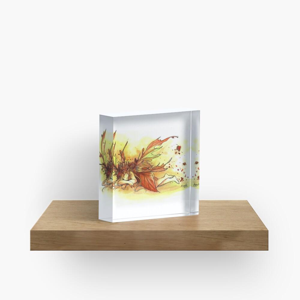 The Fall Fairy Acrylic Block