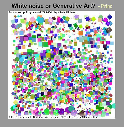 Generated art by Nikolaj Milthers