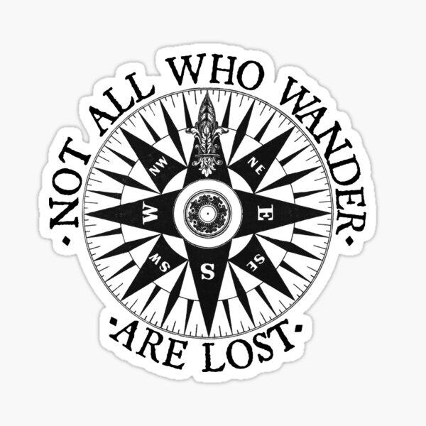 No todos los que se pierden están perdidos, Regalos de viaje de aventura Pegatina