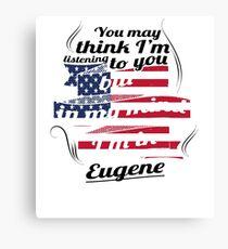 THERAPIE URLAUB AMERICA USA TRAVEL Eugene Canvas Print