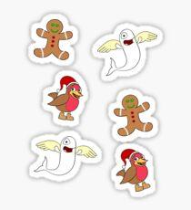 Belugatoons Christmas Stickers 2017 Sticker