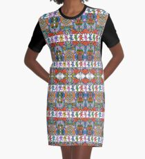 Grateful Dead Bears Trippy Pattern Vintage Colors  Graphic T-Shirt Dress