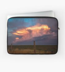 Dreamy - Storm Cloud Bathes in Sunlight at Dusk in Oklahoma Laptop Sleeve