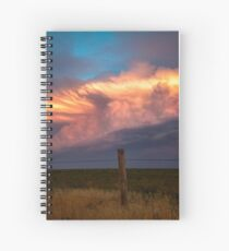 Dreamy - Storm Cloud Bathes in Sunlight at Dusk in Oklahoma Spiral Notebook