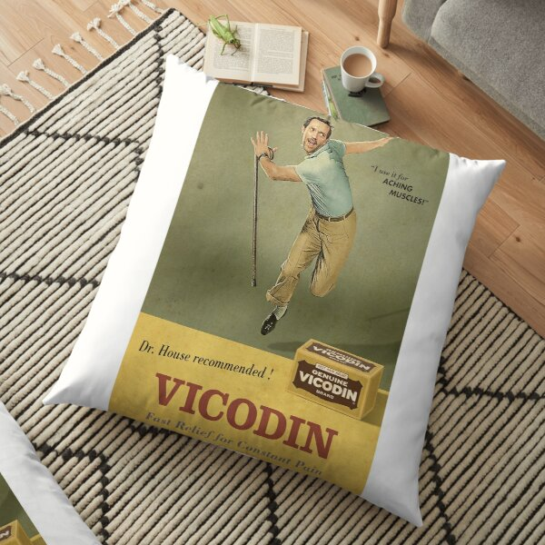 Dr. House Vicodin Recommended Floor Pillow