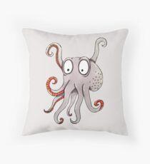 Original Octopus Illustration Throw Pillow