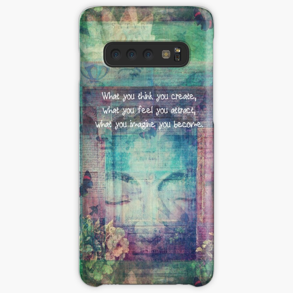 Inspiring Buddha quote about positive thinking Cases & Skins for Samsung Galaxy