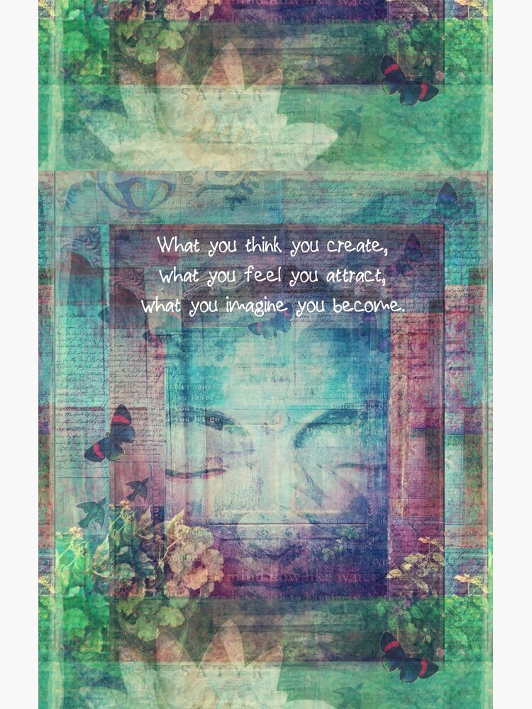 Inspiring Buddha quote about positive thinking by goldenslipper