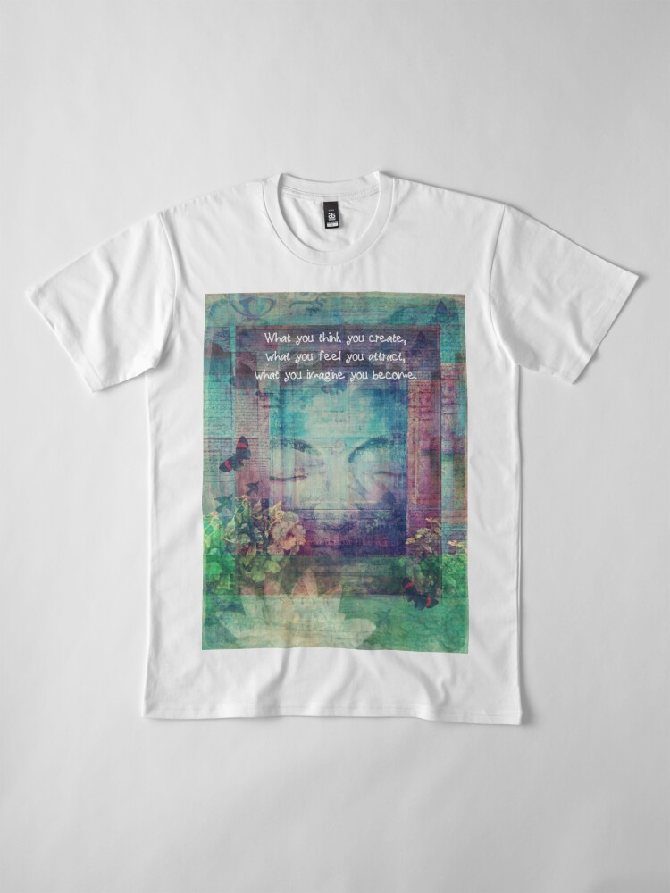 Alternate view of Inspiring Buddha quote about positive thinking Premium T-Shirt