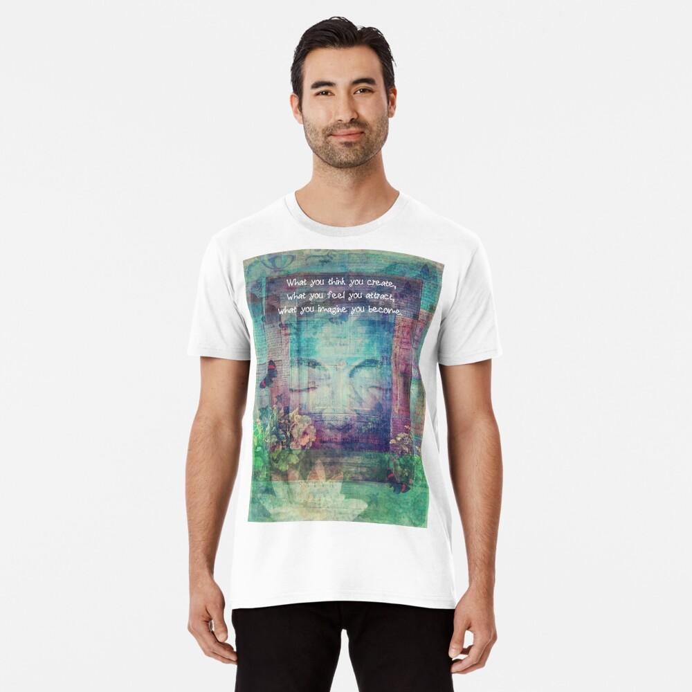 Inspiring Buddha quote about positive thinking Premium T-Shirt