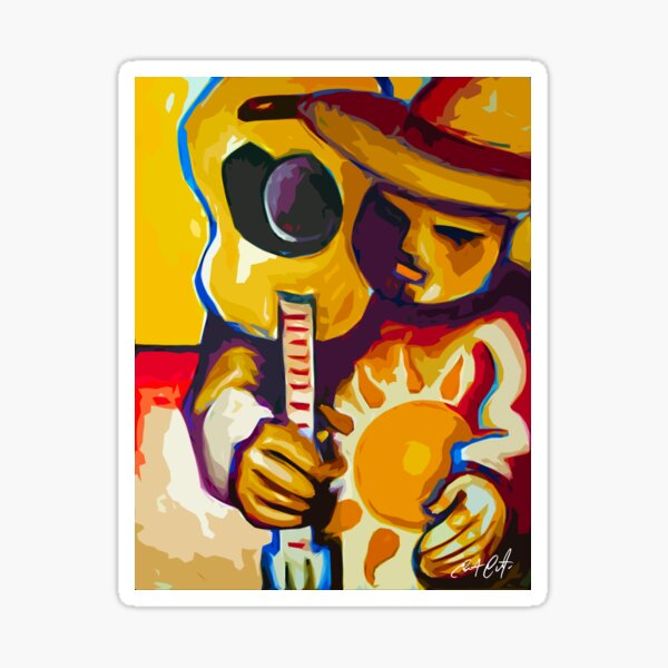 Campesino With Guitar Sticker