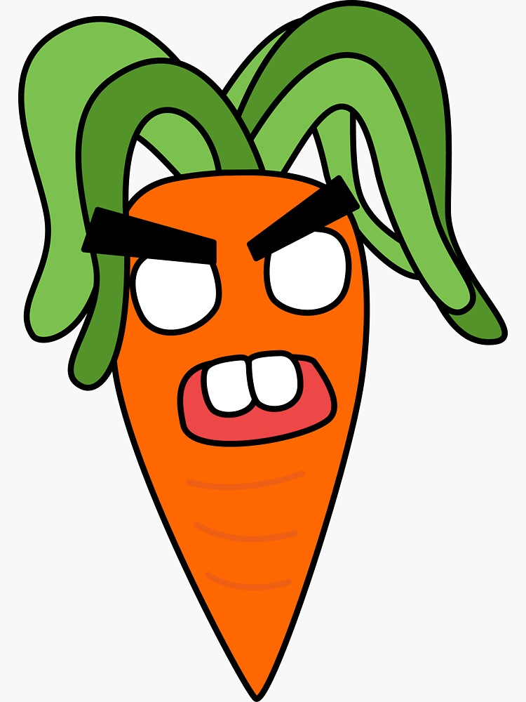 angry zombie carrot by shortstack