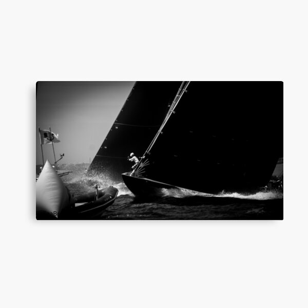 Sailing - Up On The Bow - J Class Boat  Canvas Print