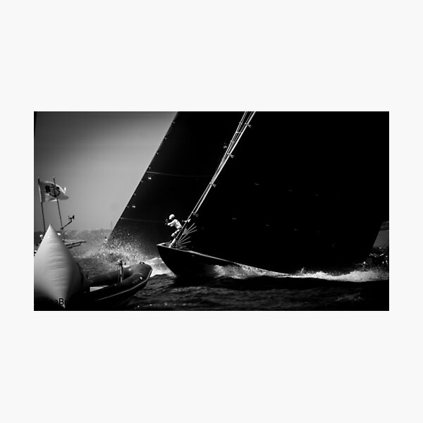 Sailing - Up On The Bow - J Class Boat  Photographic Print