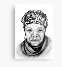 Maya Angelou - Original Pencil Portrait Metal Print