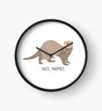 Nice Marmot Clock
