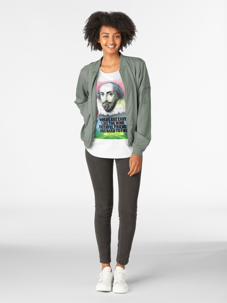 Alternate view of William Shakespeare Quote Premium Scoop T-Shirt