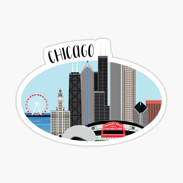 Chicago Skyline Illustration Sticker
