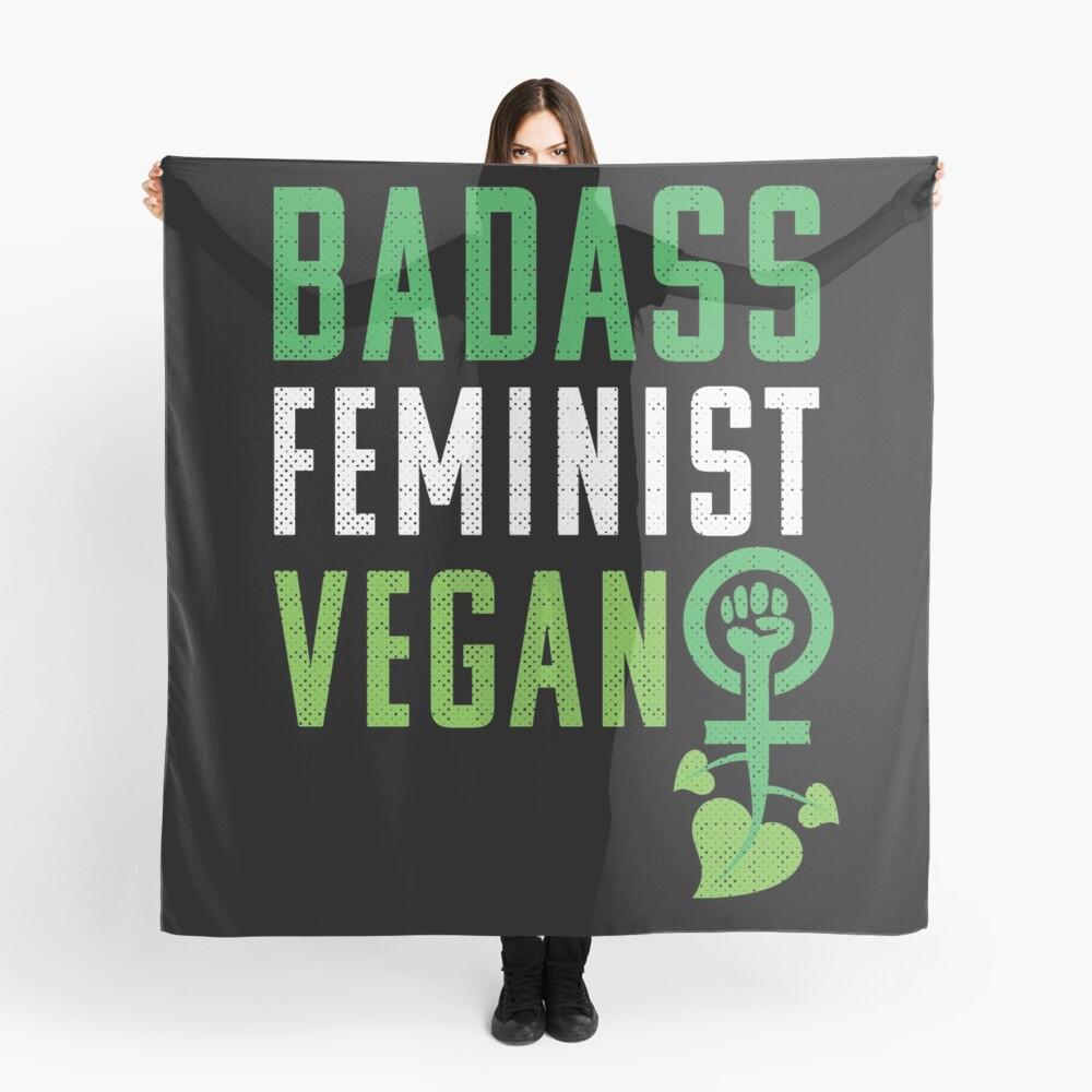 Feminista vegana: puño feminista badass vegano Pañuelo