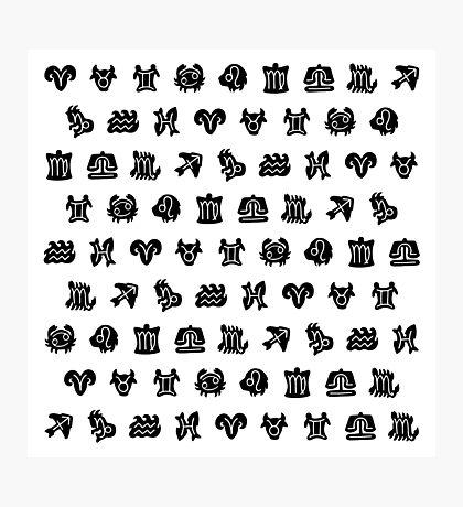 Zodiac astrology symbol pattern Impression photo