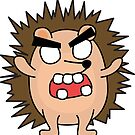 angry zombie hedgehog by shortstack