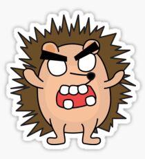 angry zombie hedgehog Sticker