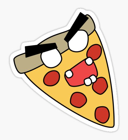 zombie pizza Sticker