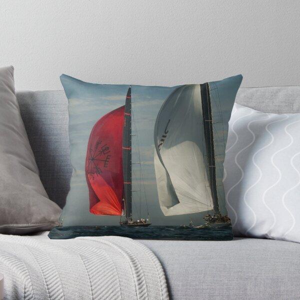 Sailing - J Class Boats  Throw Pillow