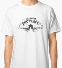 Die Talking Heads Dies muss der Ort sein Lyrics Hand gezeichnet - Geschenk für Musikliebhaber - Housewarminggeschenk Classic T-Shirt
