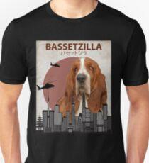 Bassetzilla – Basset Hound Giant Dog Monster T-Shirt