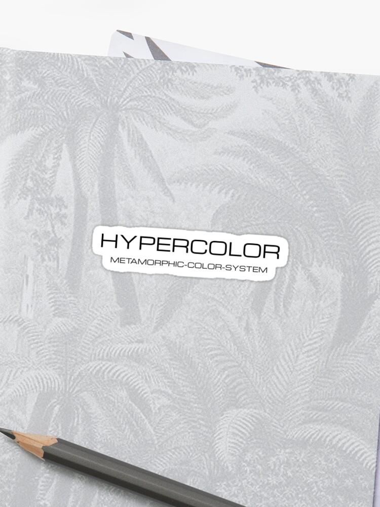Hypercolor Metamorphic color system t shirt hypercolour | Sticker