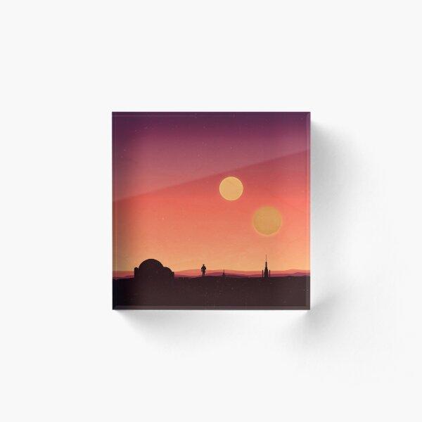 Tatooine Acrylic Block