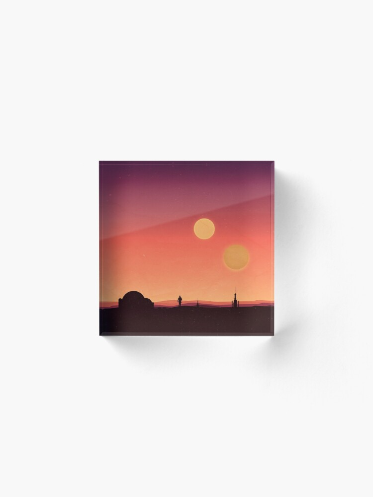 Alternative Ansicht von Tatooine Acrylblock