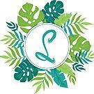 Monogramm-Buchstabe S | Personalisiert | Tropisches Design von PraiseQuotes