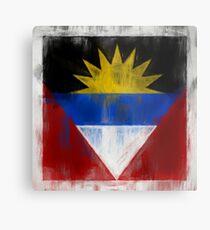 Antigua And Barbuda Flag Reworked No. 2, Series 2.jpg Metalldruck