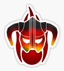 Fire Metal Helmet Sticker