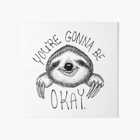 Slothspiration Art Board Print