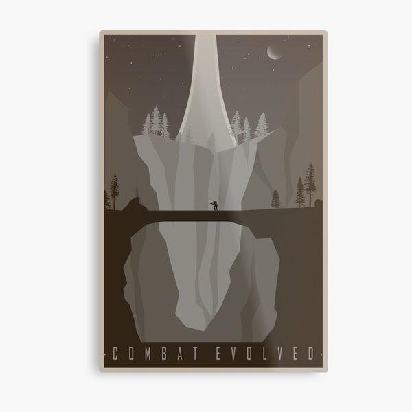 Halo Combat Evolved Vintage Travel Poster Metal Print